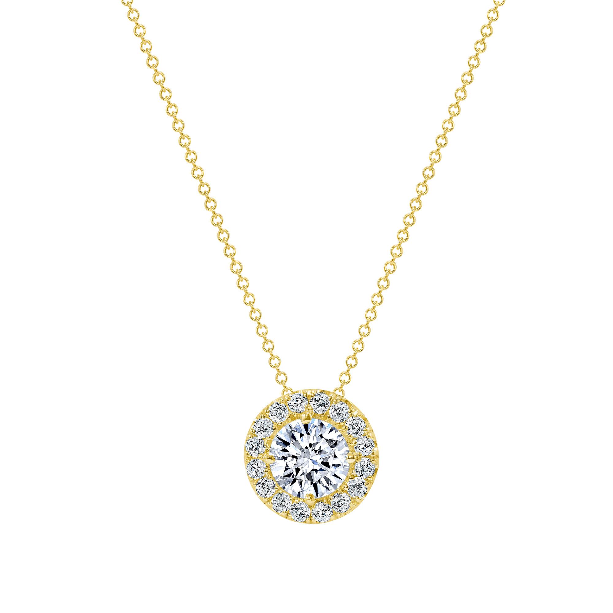 14k gold diamond pendant necklace