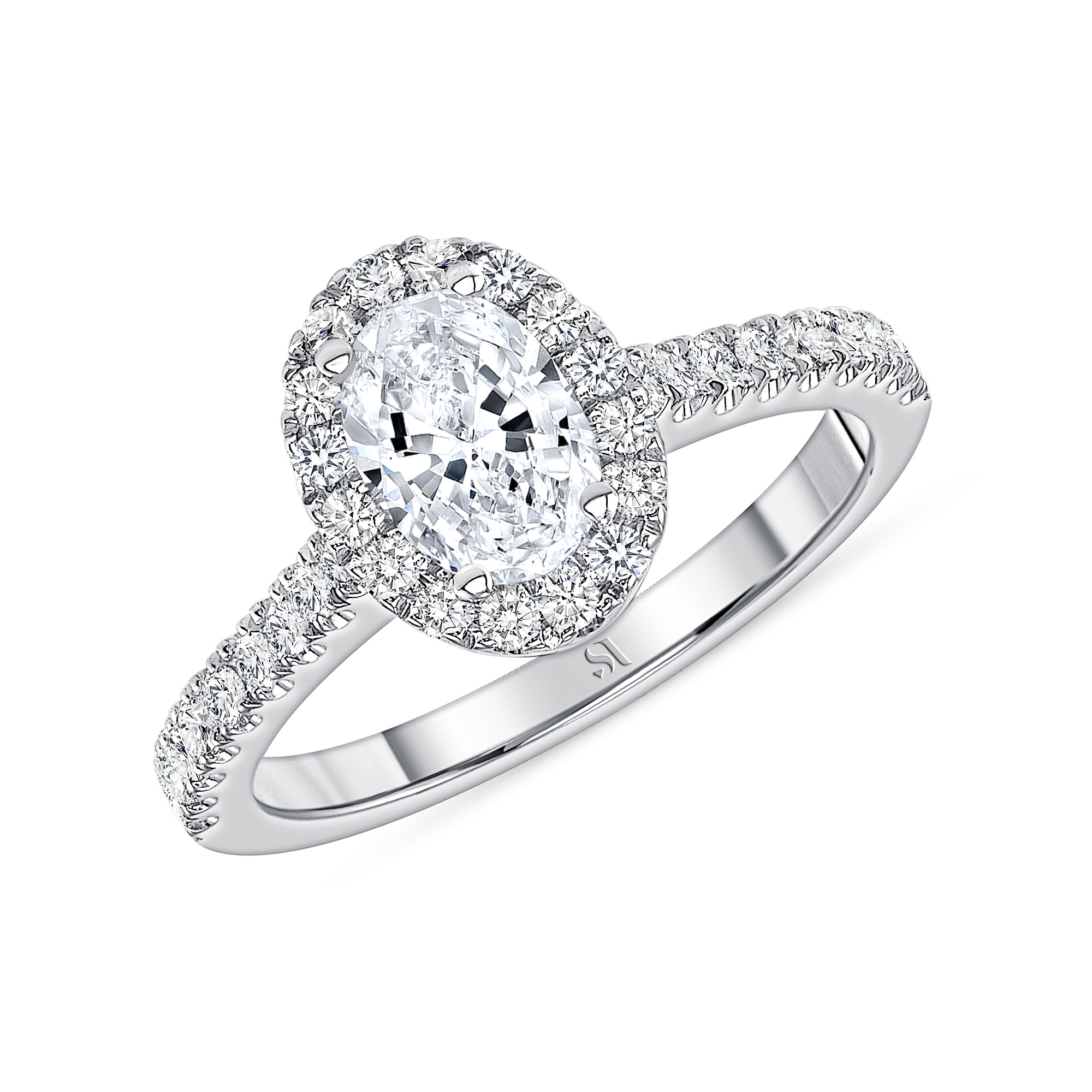dainty diamond engagement ring white gold