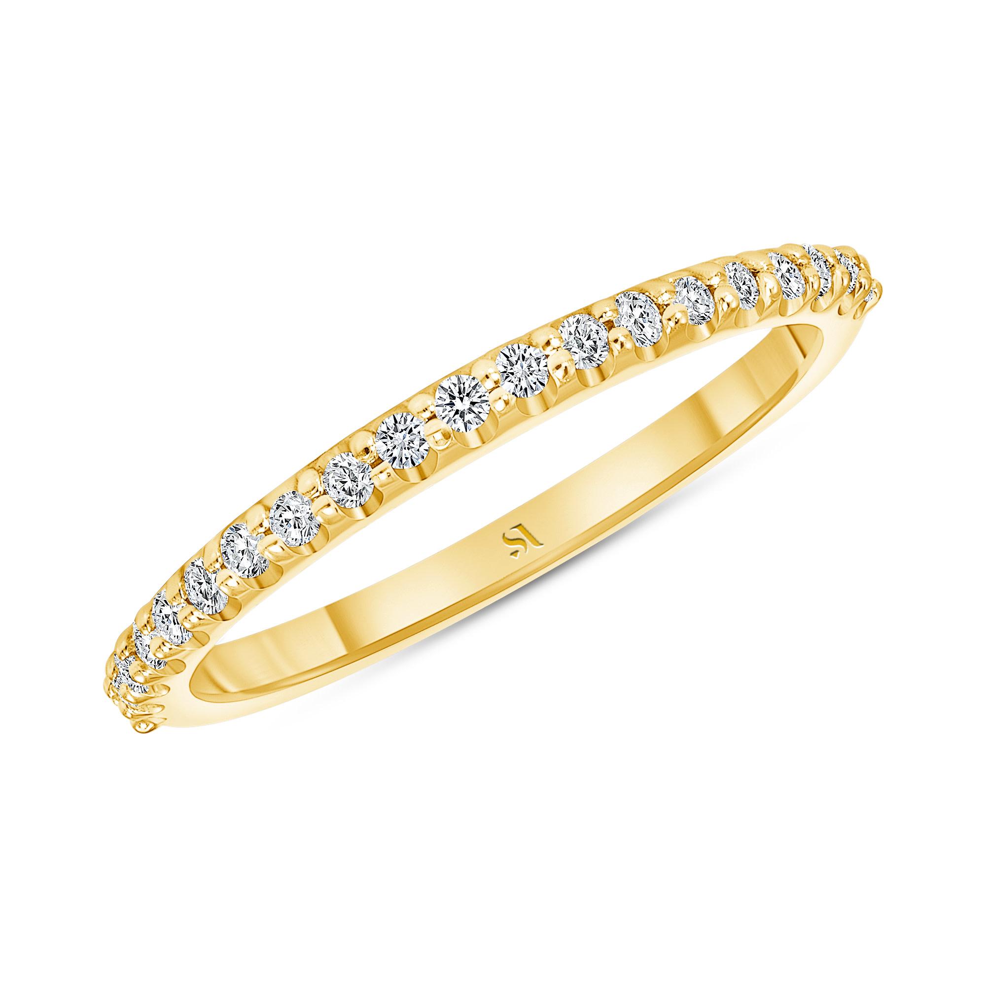 dainty diamond gold band | Sabrina A Inc