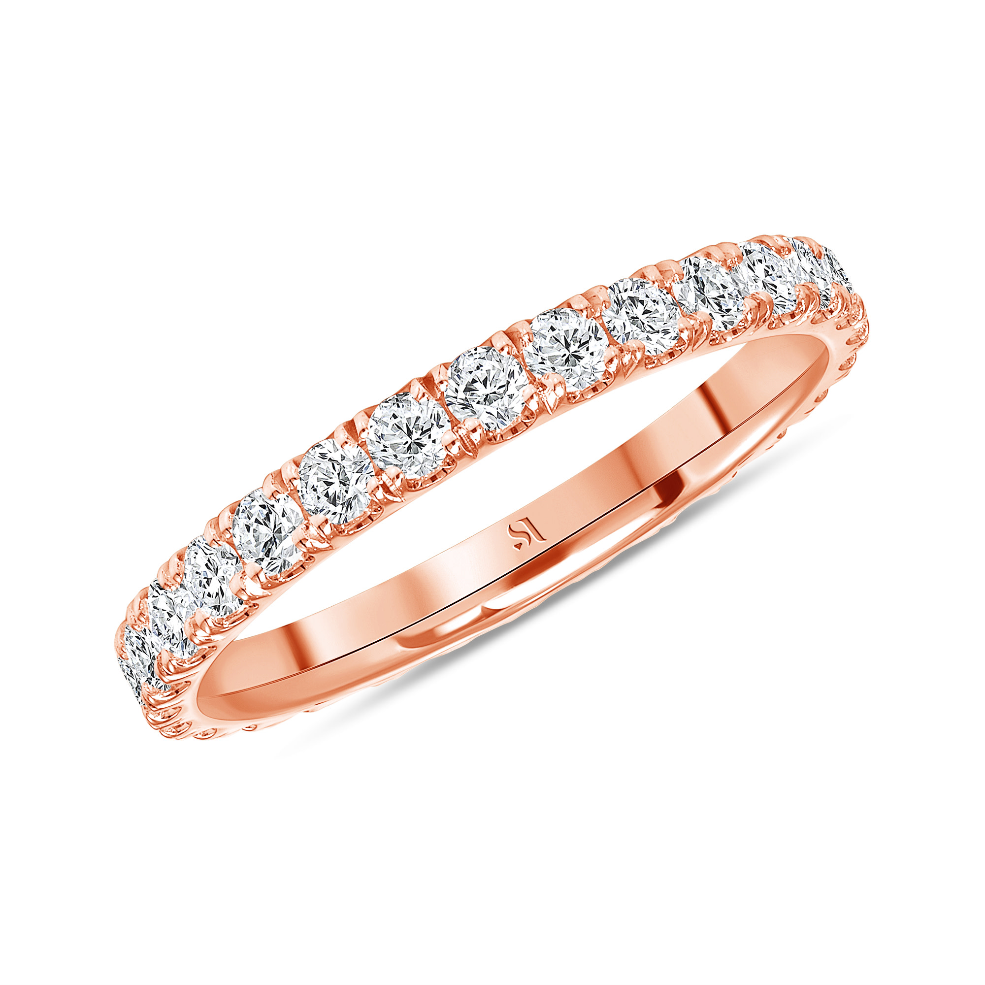 petite eternity band rose gold