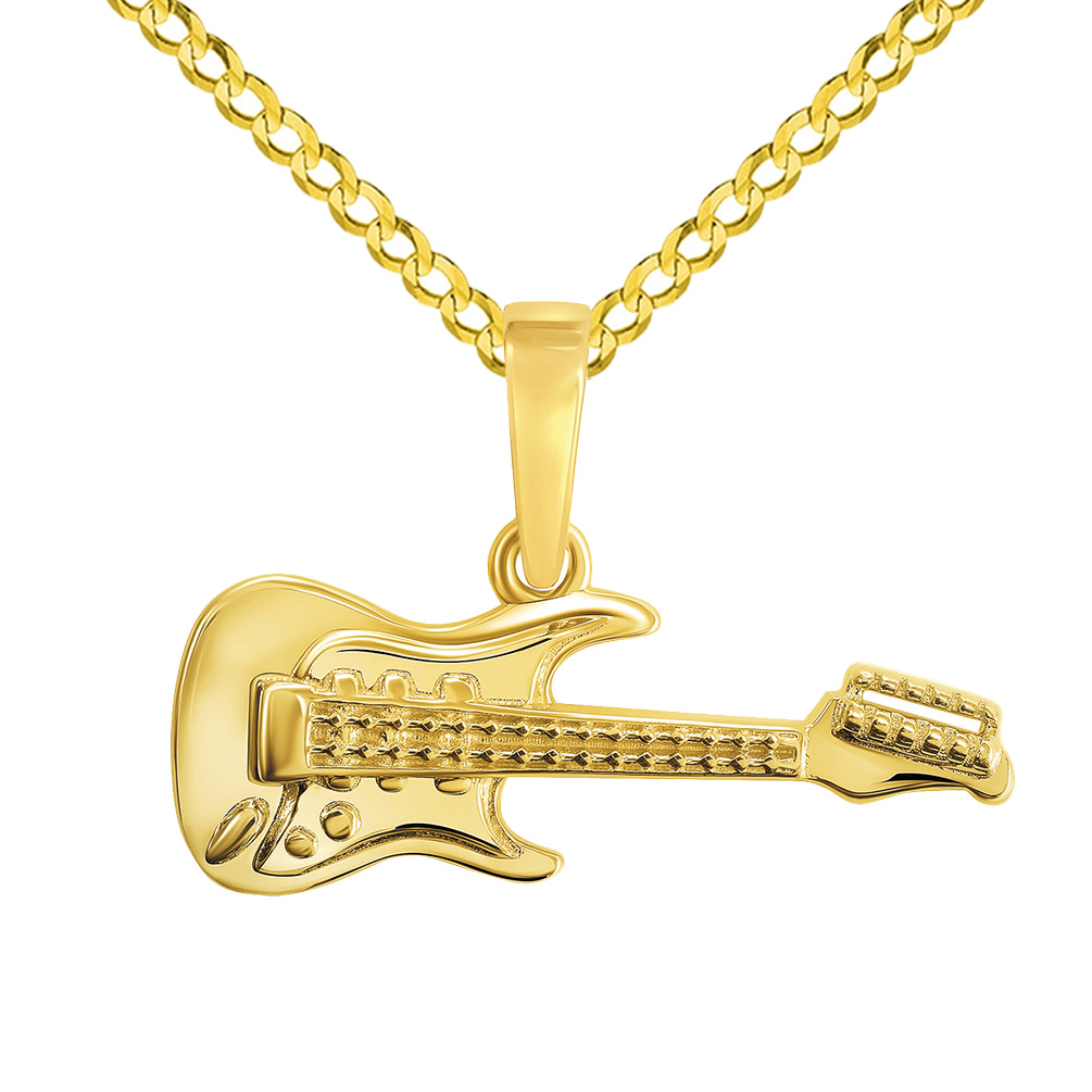 guitar pendant necklace