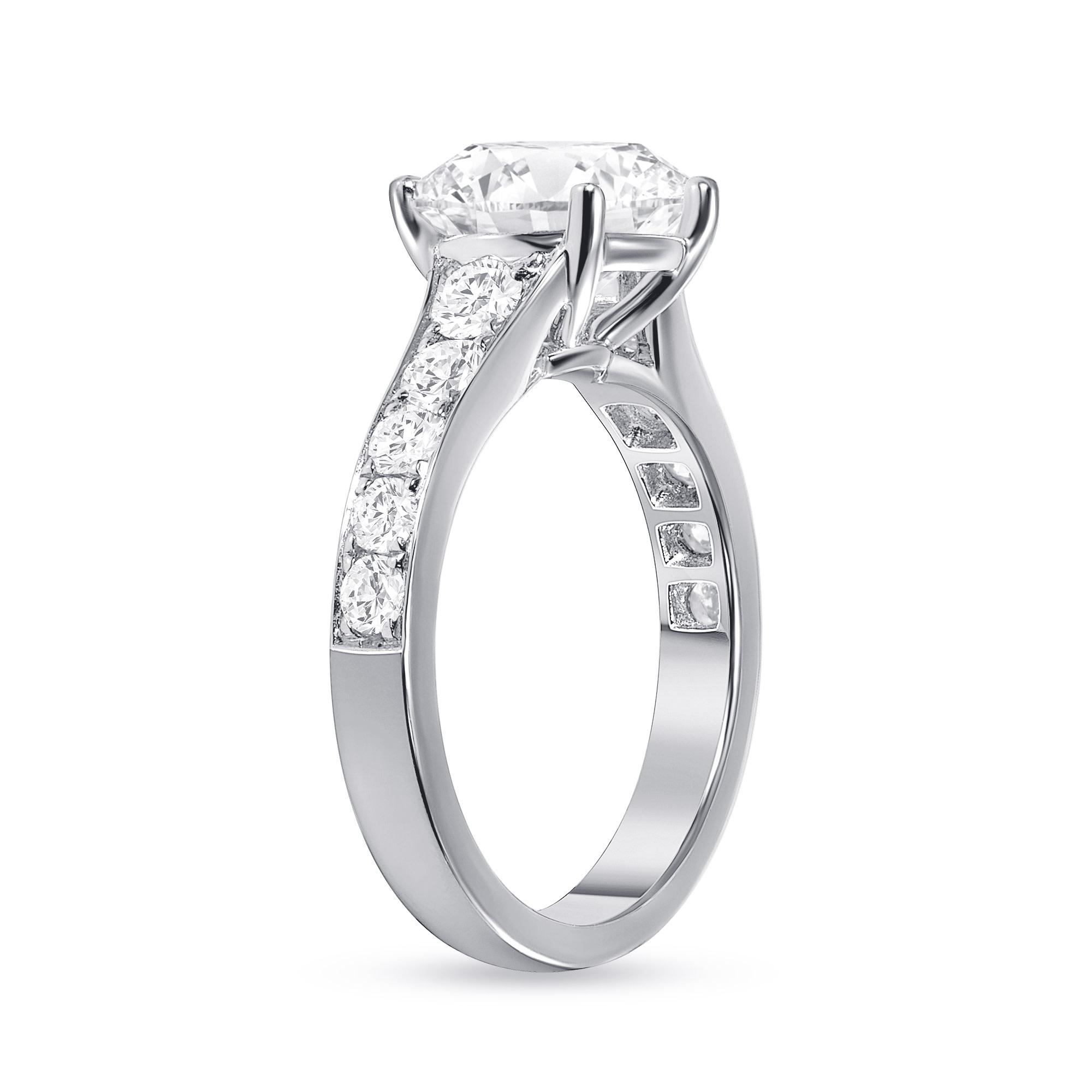 2.5 Carats Pave Diamond Engagement Ring