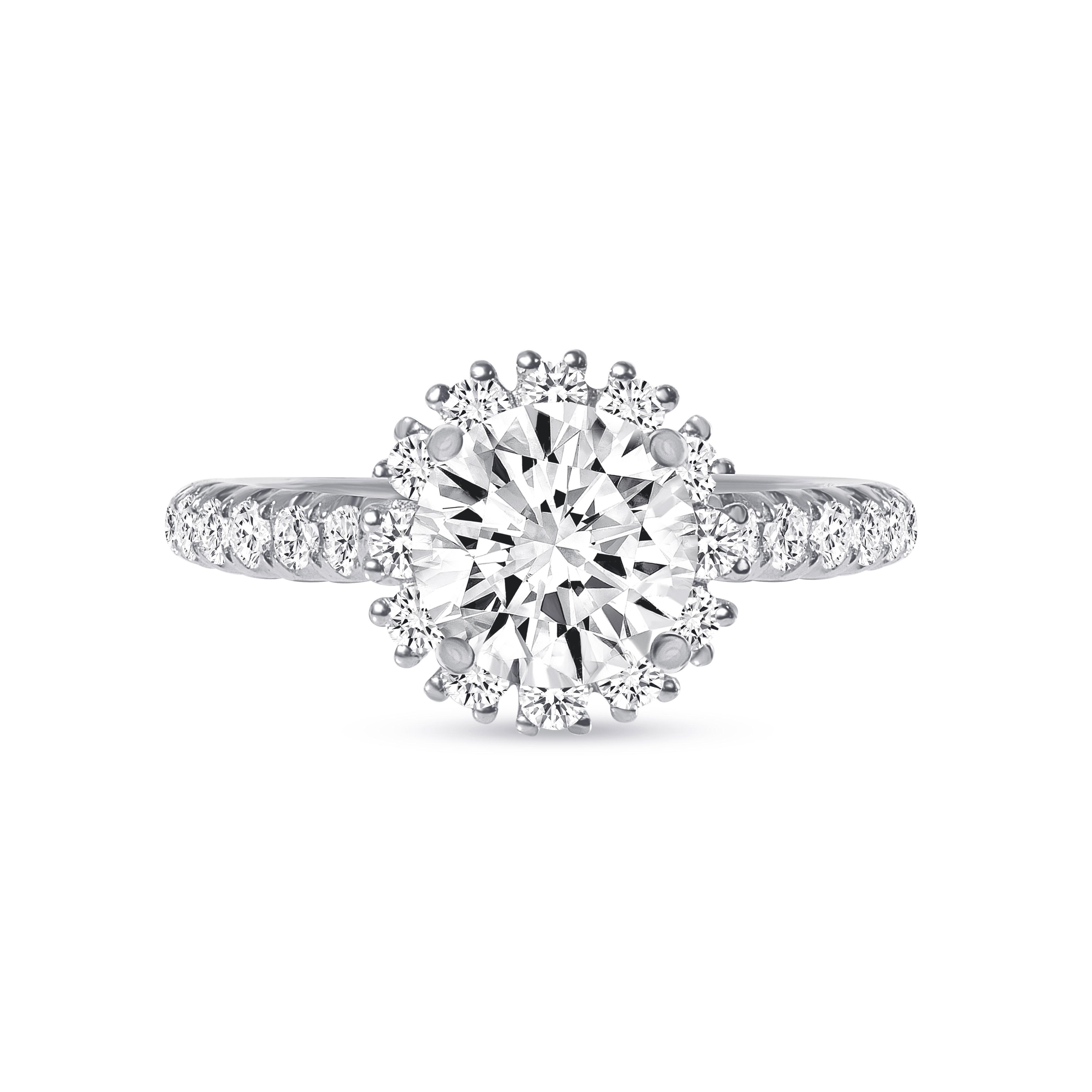 pave halo diamond ring