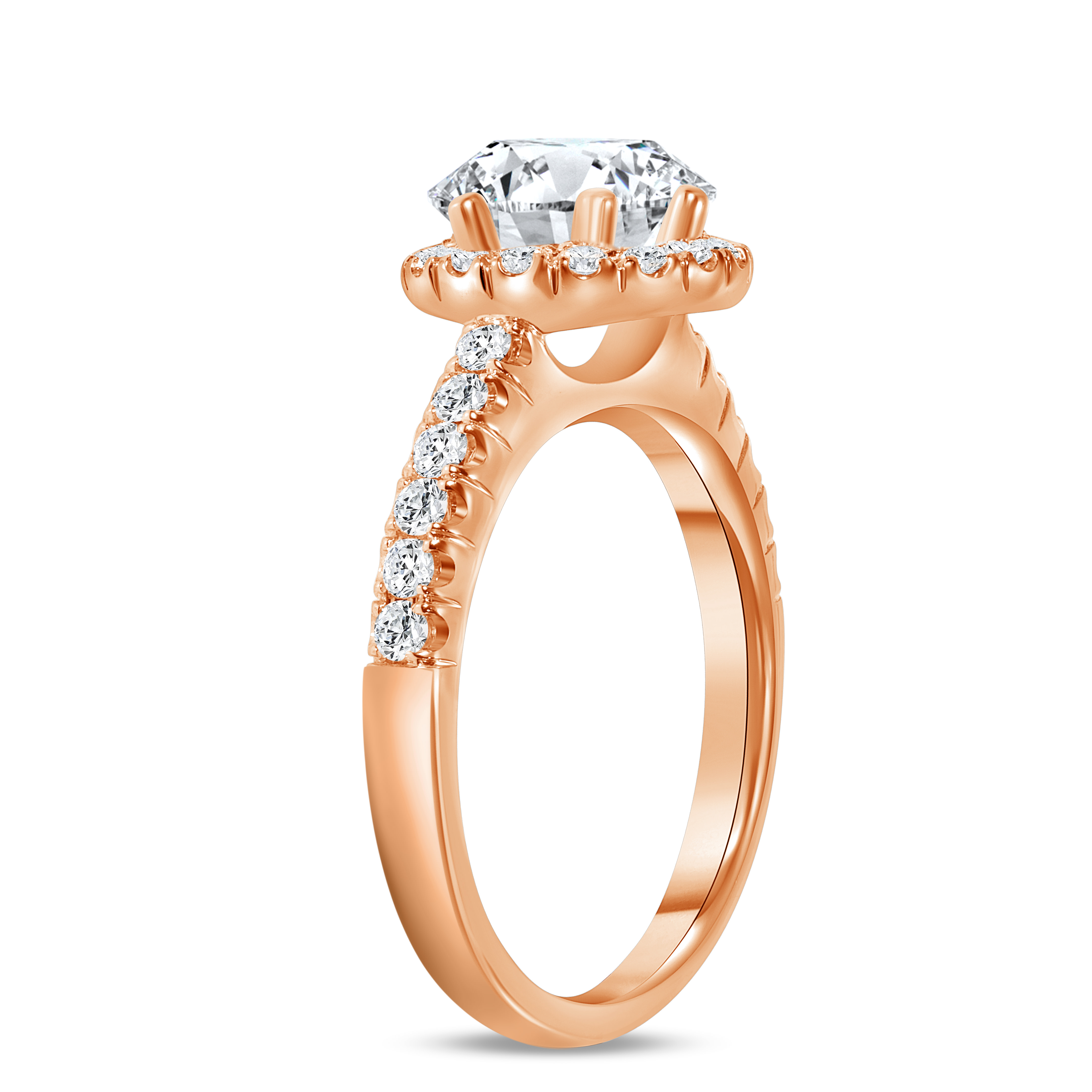 halo pave engagement ring