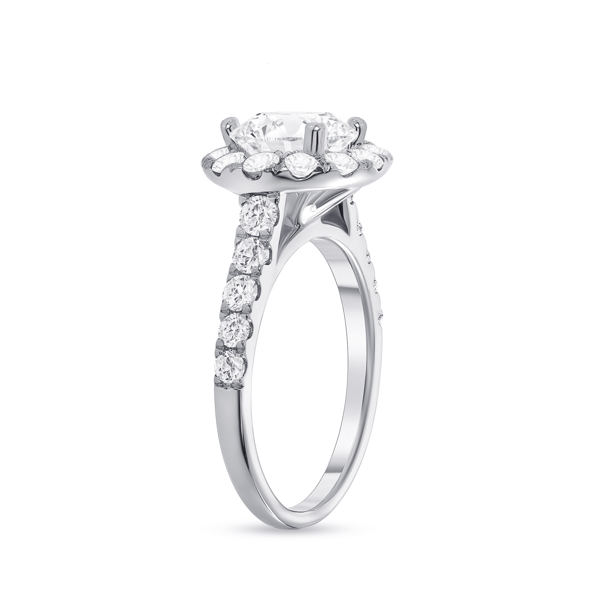 small halo engagement ring