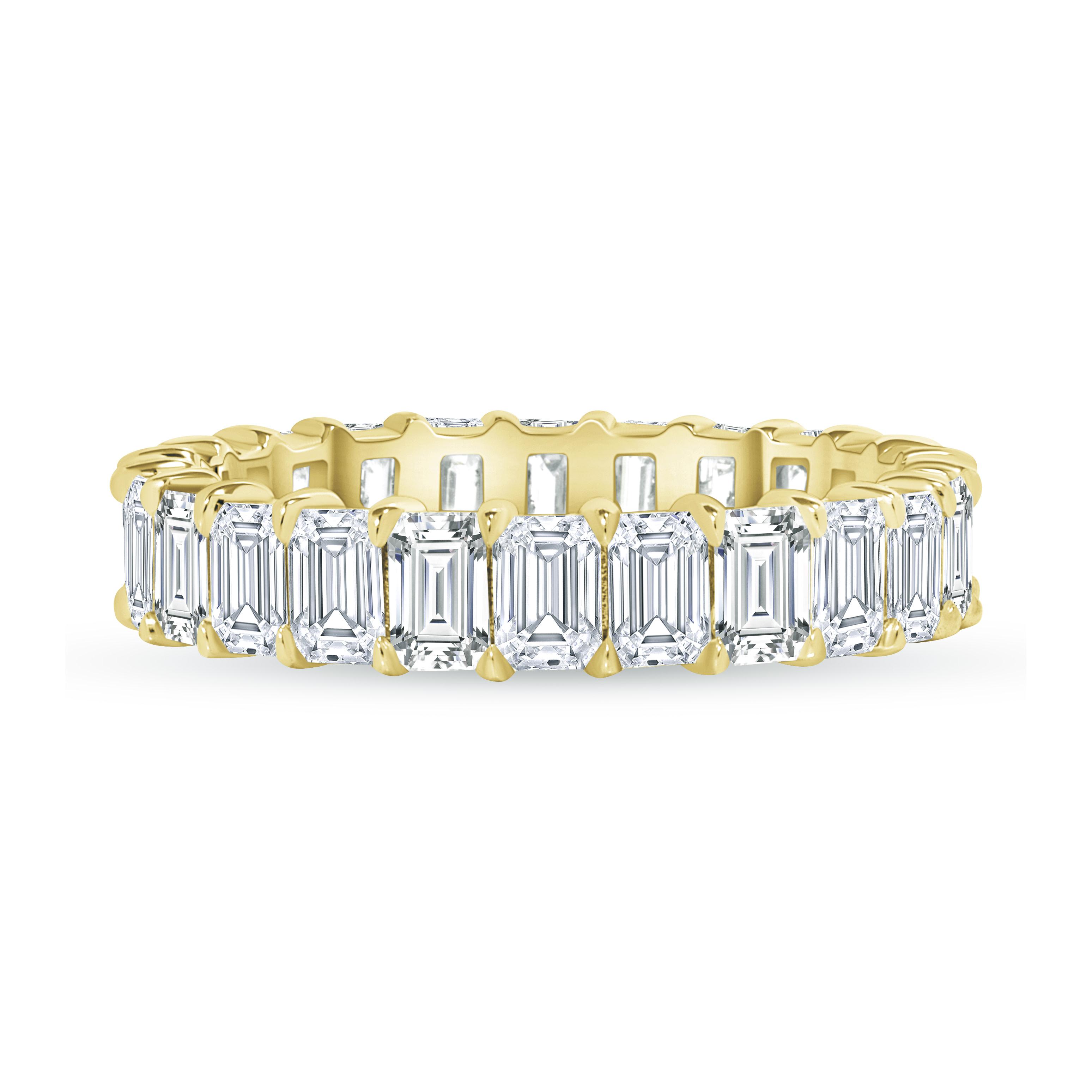 Emerald Cut Full Eternity Band yellow gold