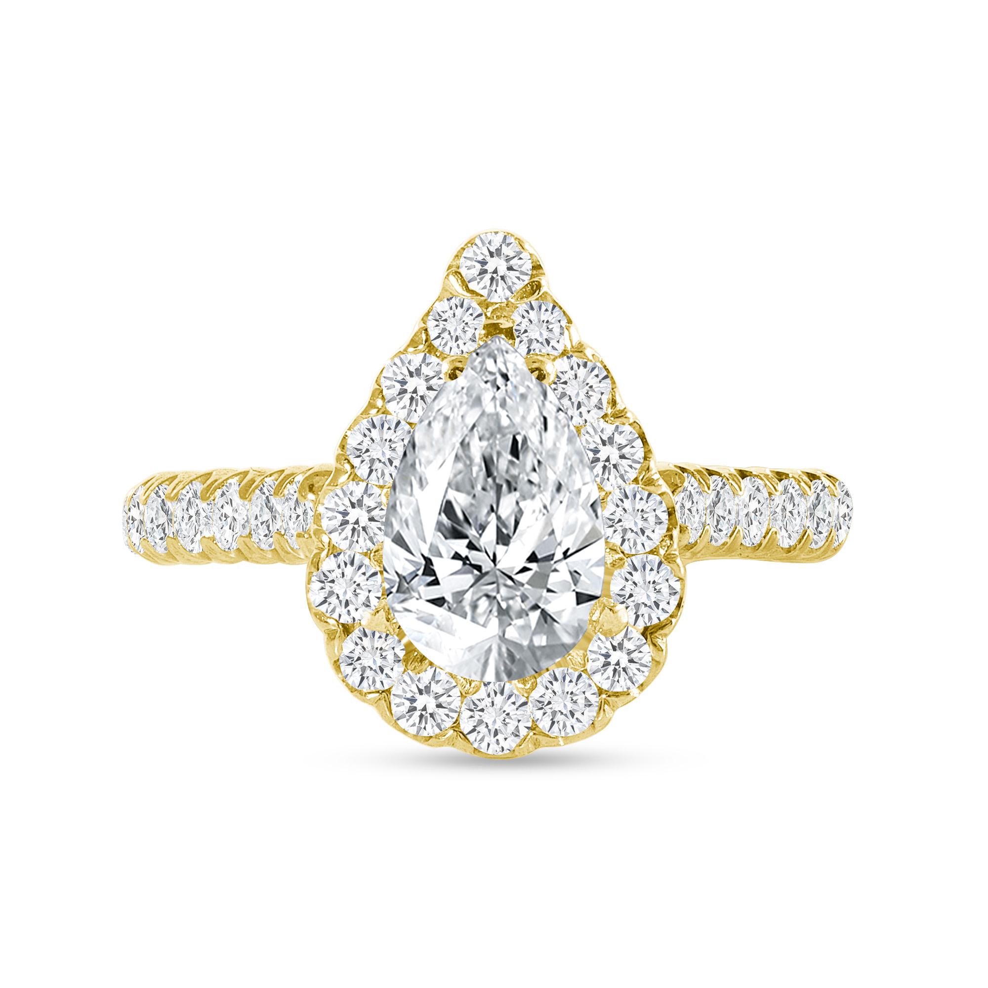round diamond engagement ring gold