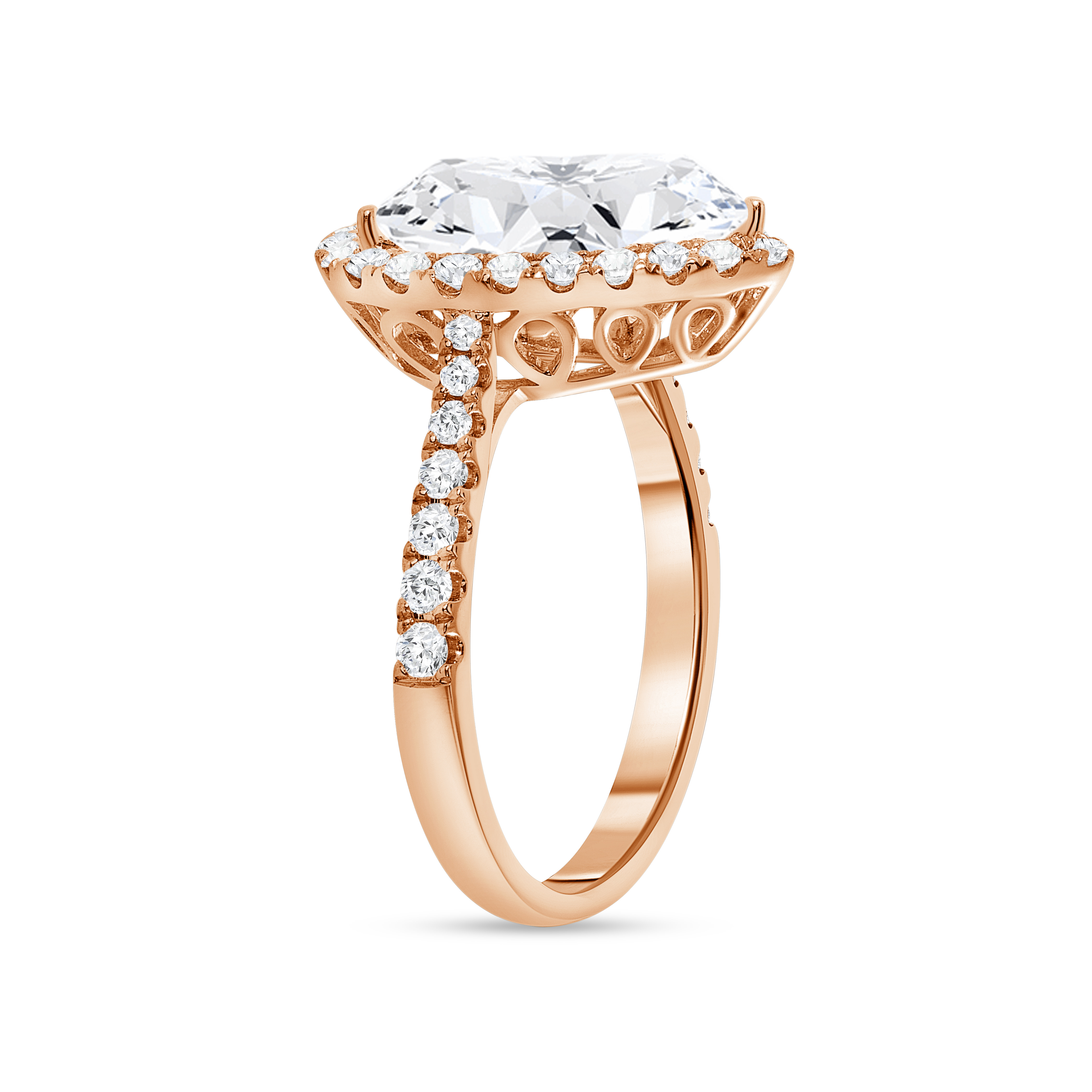 large pear engagement ring rose gold