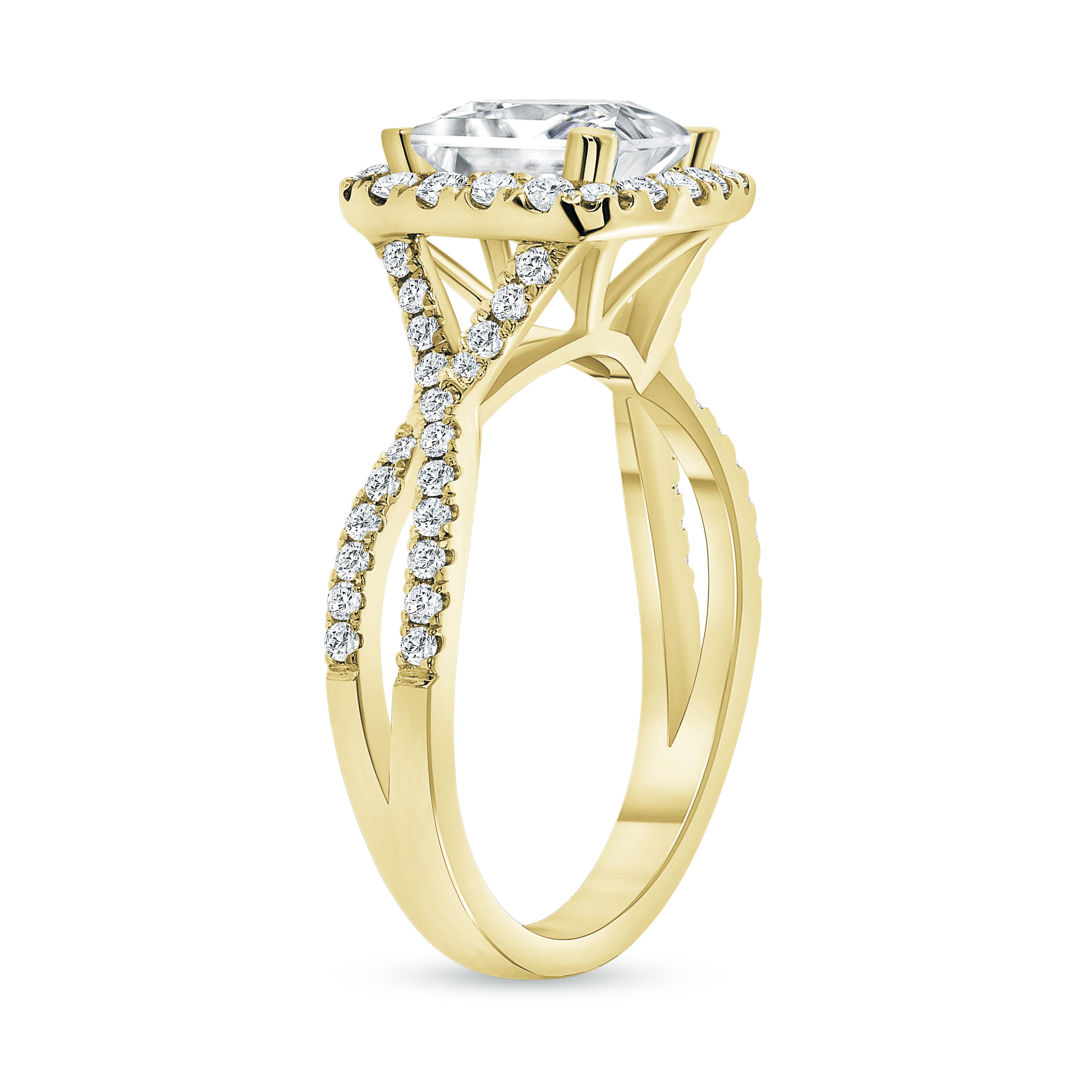 split band engagement ring gold