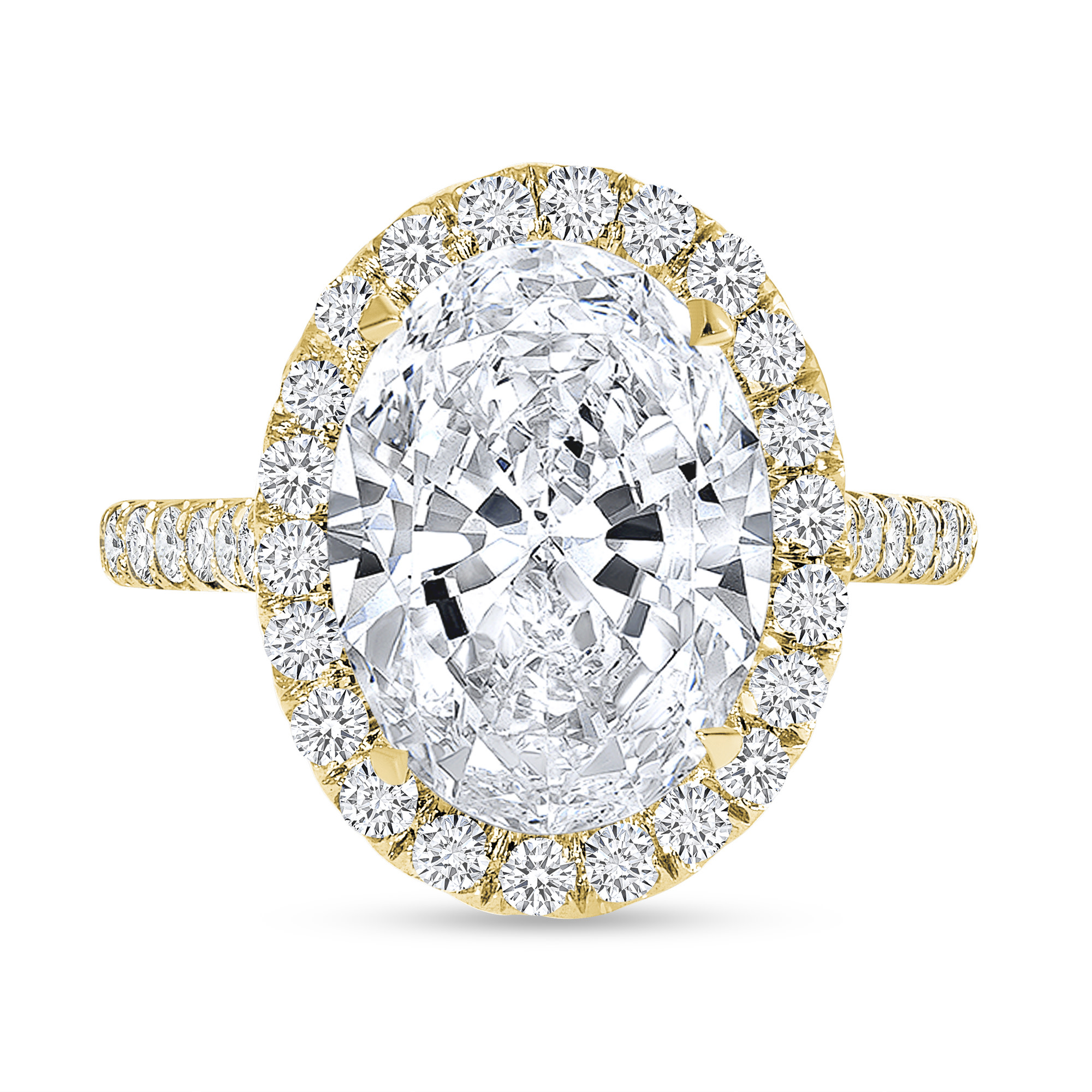 oval cut diamond engagement ring gold