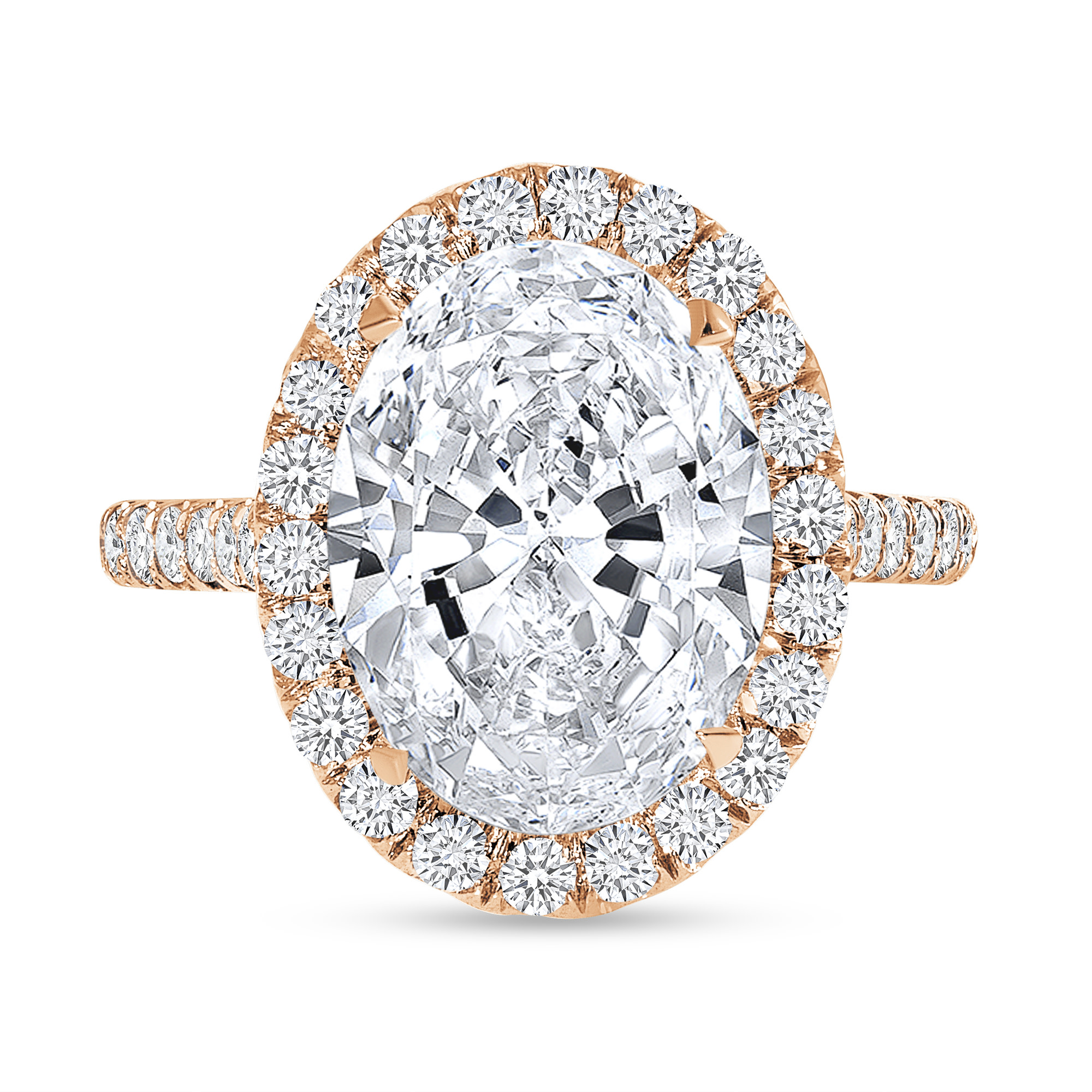 oval cut diamond engagement ring rose gold