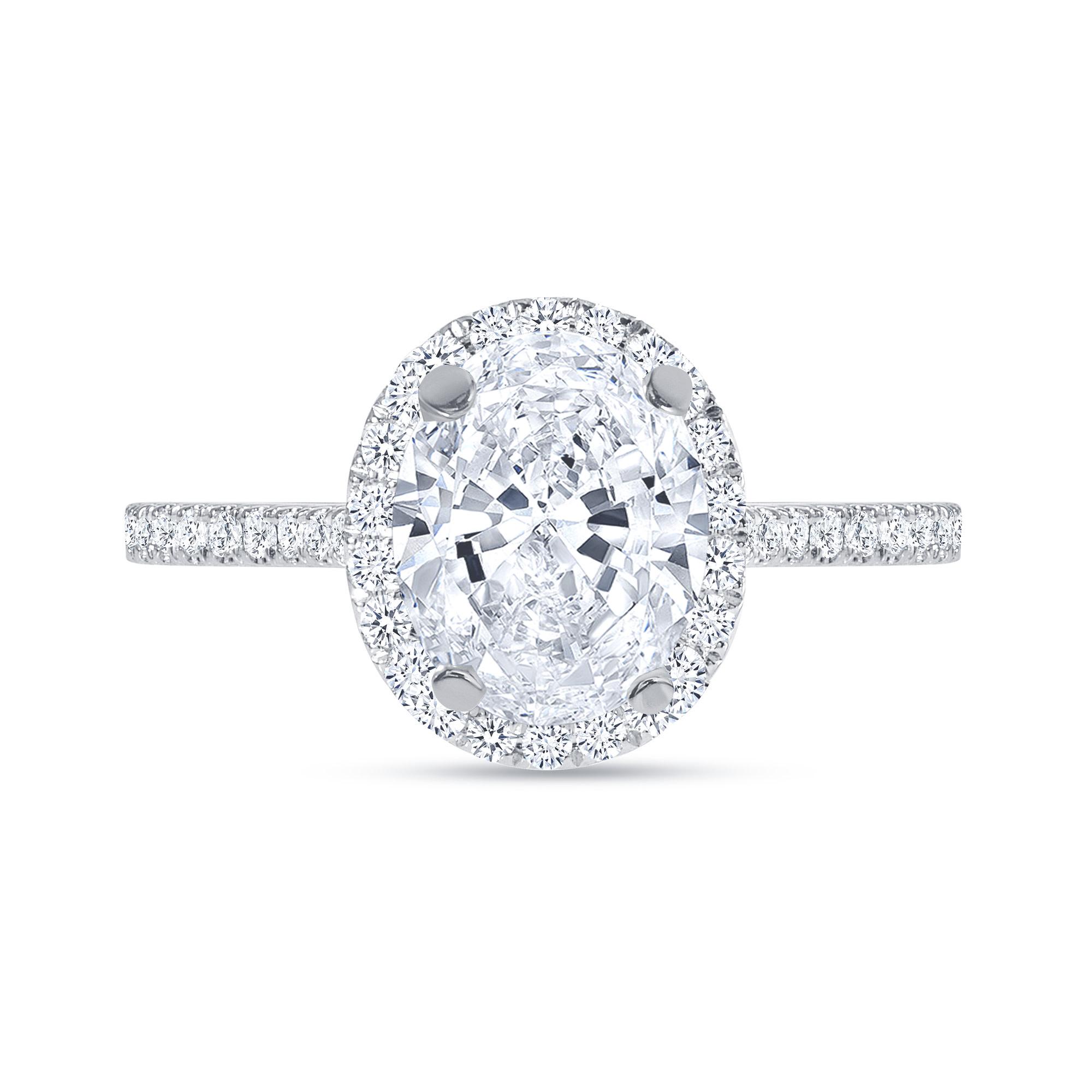 oval halo diamond engagement ring white gold
