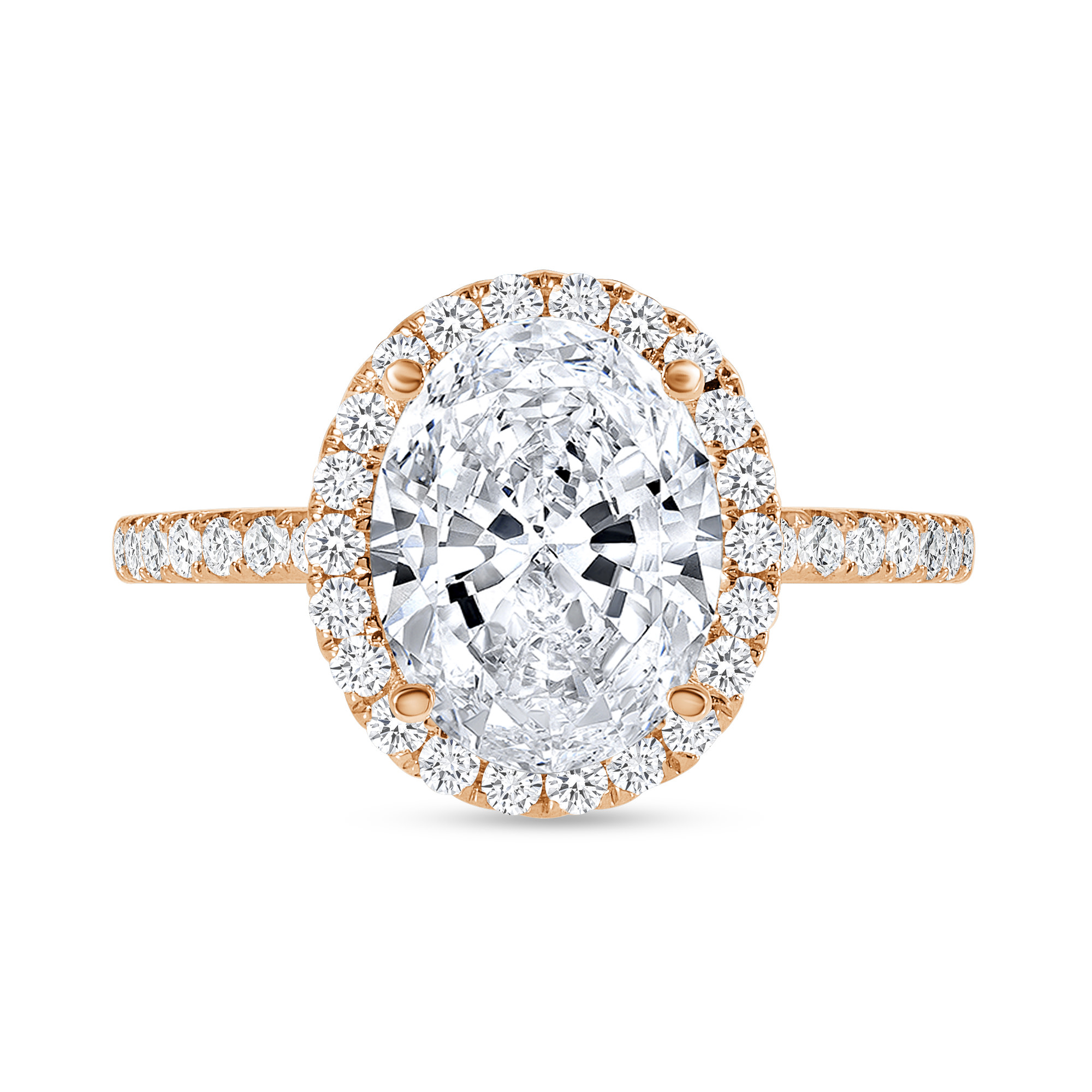 small halo engagement ring rose gold
