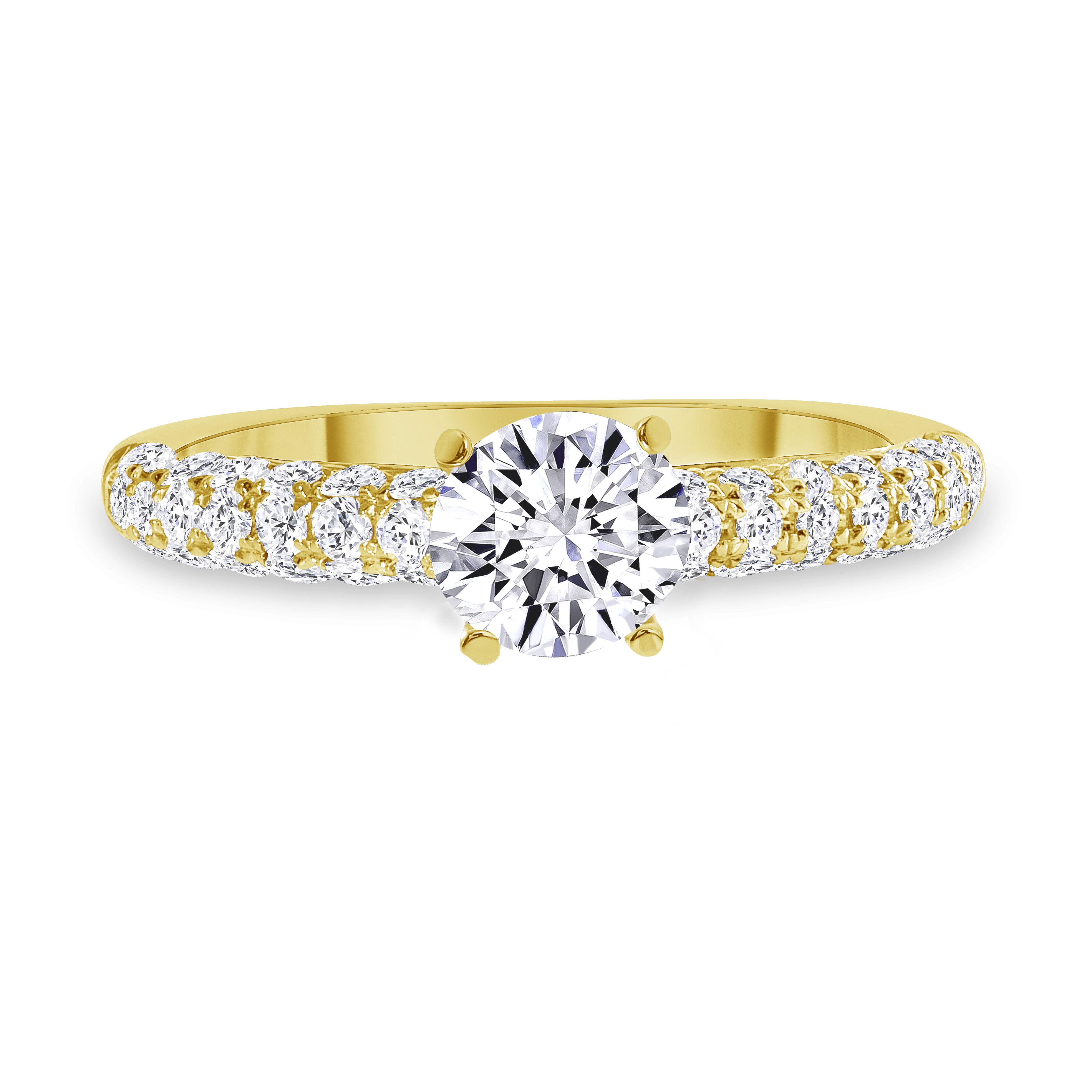 prong setting engagement ring gold
