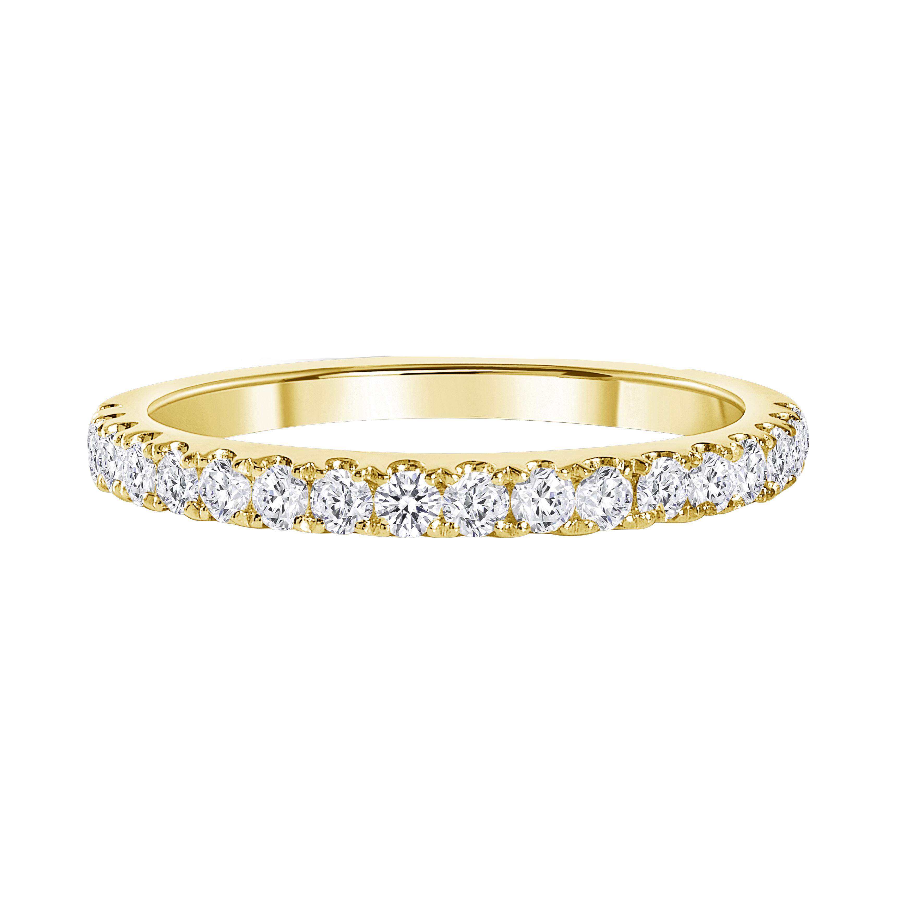 half eternity diamond band gold