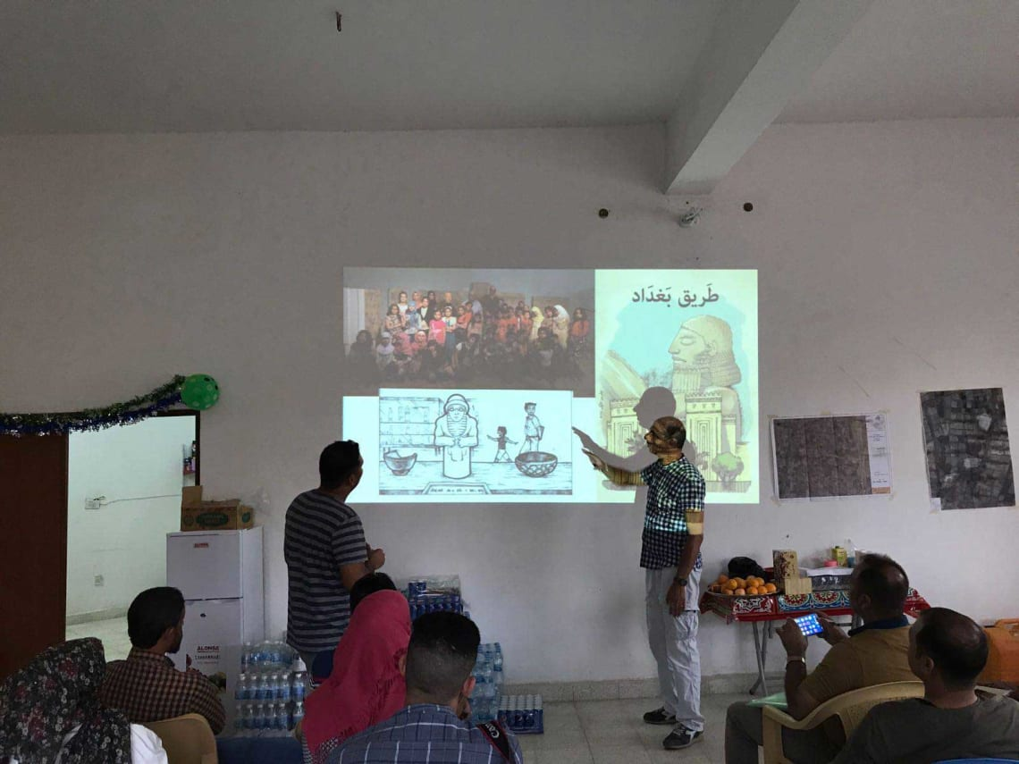 EDUU training activities at Tulul Al-Baqarat, expedition house in Naoumaniyah