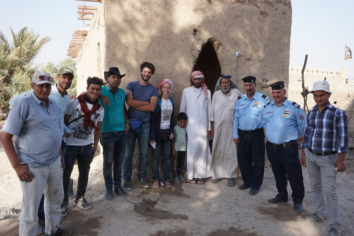 UNIBO team and SBAH representatives meeting locals during fieldwork in Qadisiyah governorate