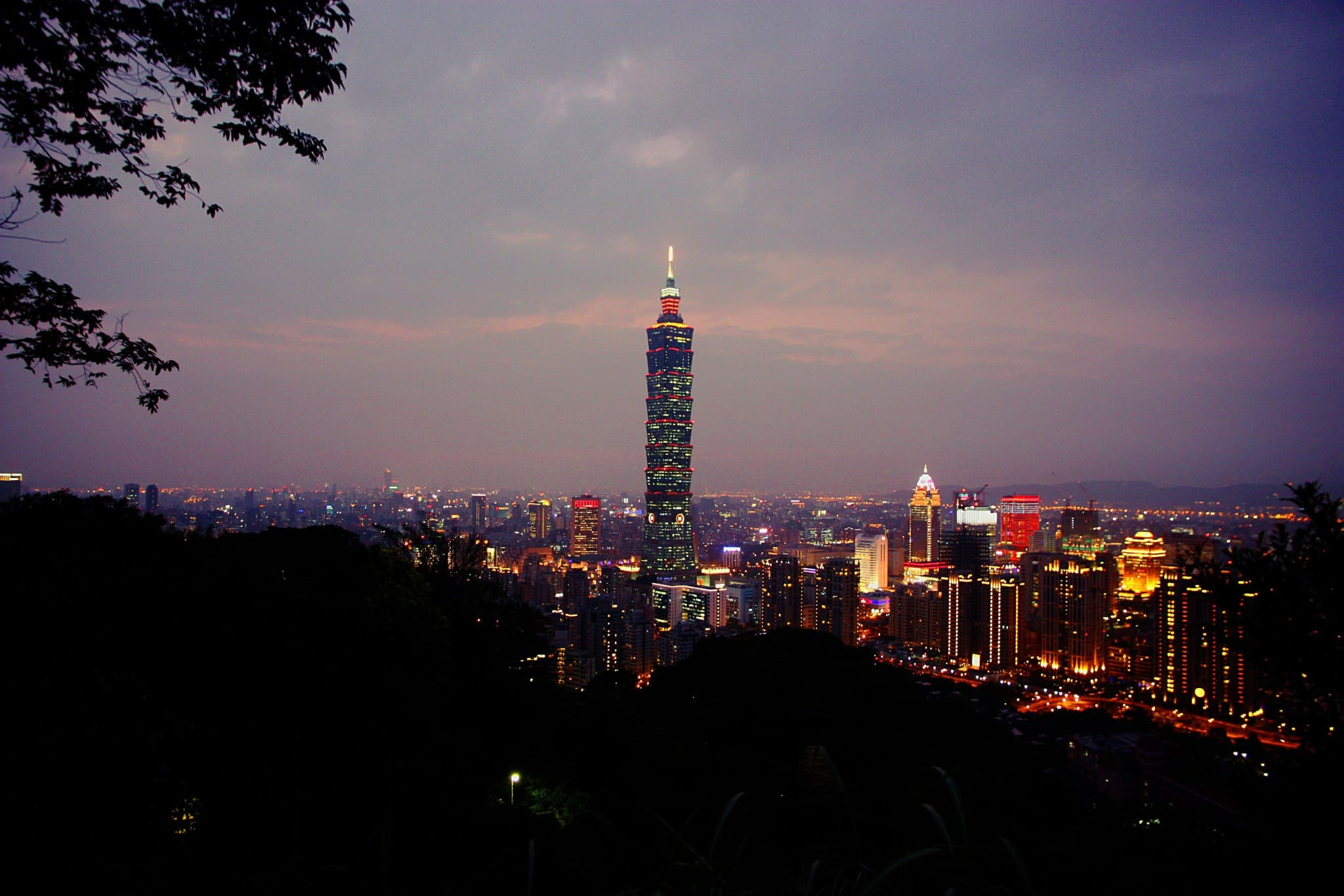 Photo of Taipei 101 from elephant mountain