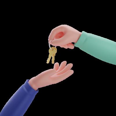 Manos con llaves