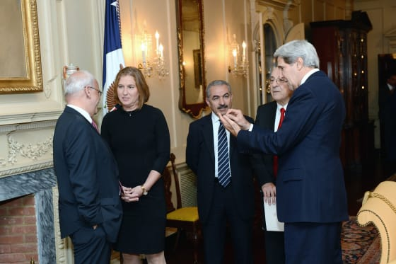 Secretary Kerry Hosts an Iftar for the Israeli Justice Minsiter Livni and Palestinian Chief Negotiator Erekat // Credit: State Department via Flickr