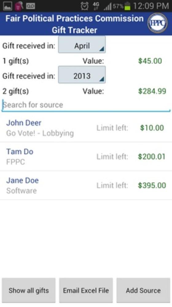 Gift Tracker App