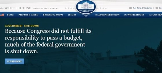 Government Closed // Credit: Whitehouse.gov