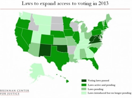 Law Expanding Voting Access