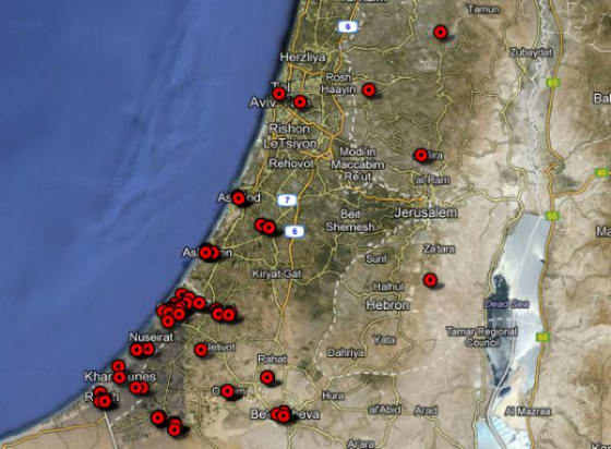 Mapping the Israel-Gaza Conflict