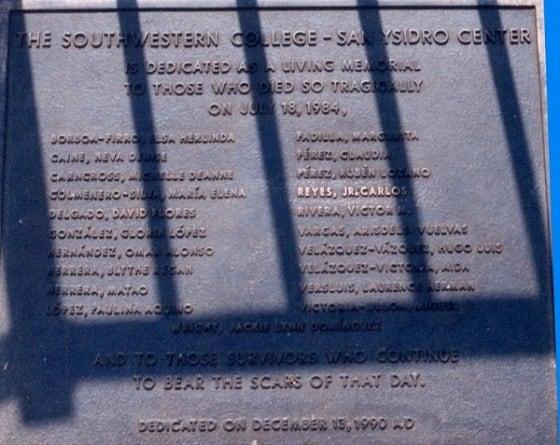 McDonalds Massacre Memorial // Credit: Wikipedia