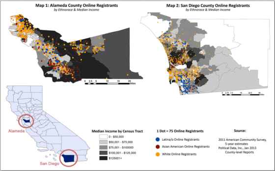 Online Voter Registration Map SD and AL