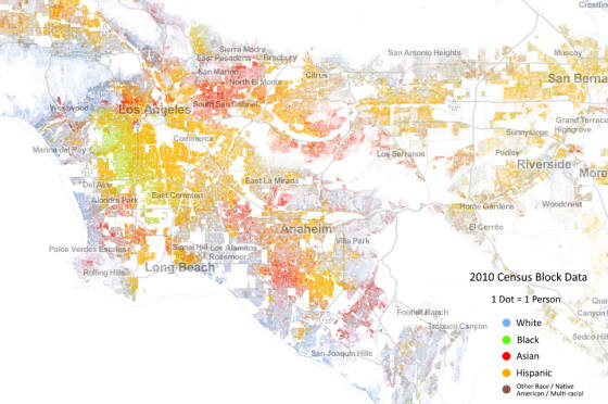 Los Angeles Demographic Map