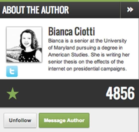 Profile of Bianca Ciotti
