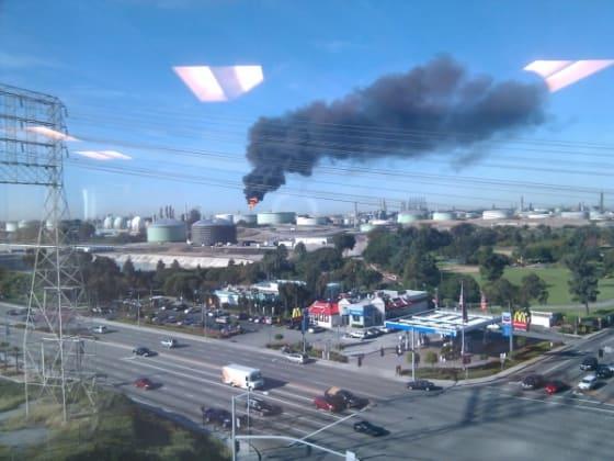 A Chevron refinery emits pollutants