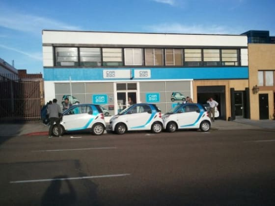 Car2go electric car sharing service.