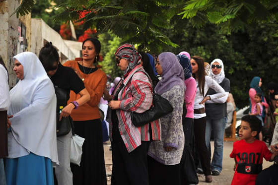 Egyptian citizens voting, many for the first time, in 2012 // Credit: Jonathan Rashad via Flickr