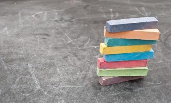 early childhood education empty chalkboard