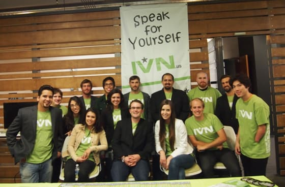 The IVN staff getting geared up for the launch