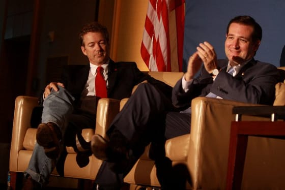 Rand Paul (left) and Ted Cruz (right) // Credit: Gage Skidmore