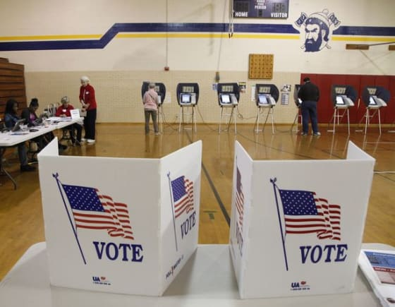Voters at the polls in Dayton, Ohio // Credit: Ty Greenlees Dayton Daily News