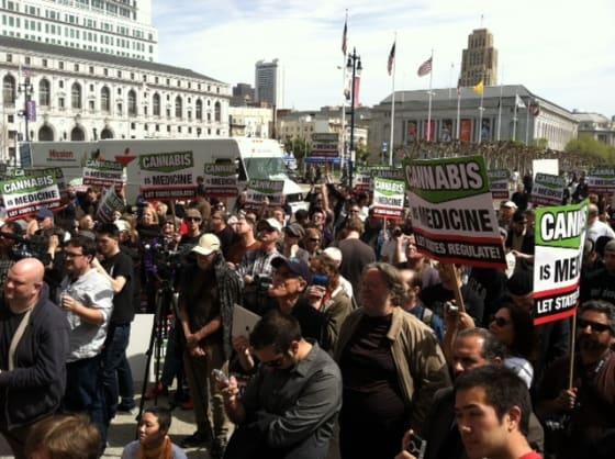 Medical Marijuana Protest