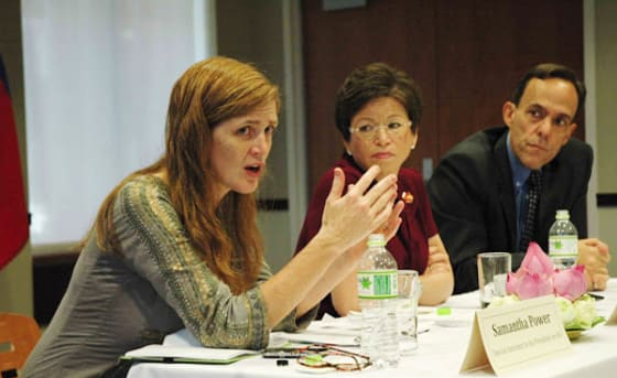 Samantha Power discusses foreign policy and human rights in  human rights organizations // Credit: usembassy.gov