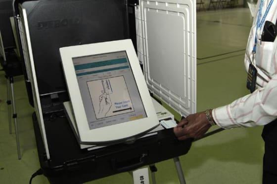 Touch-scrren Voting Machine // Credit: SI.edu