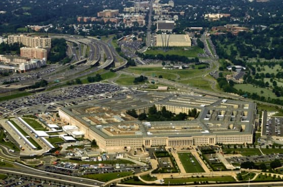 Aerial of the Pentagon by Frontpage via Shutterstock.com