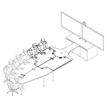 Spectrum Industries 38956chb Flex Insight 42 Desk