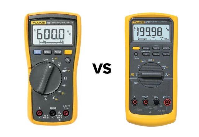 Fluke 115 vs 87v Digital Multimeters | TEquipment