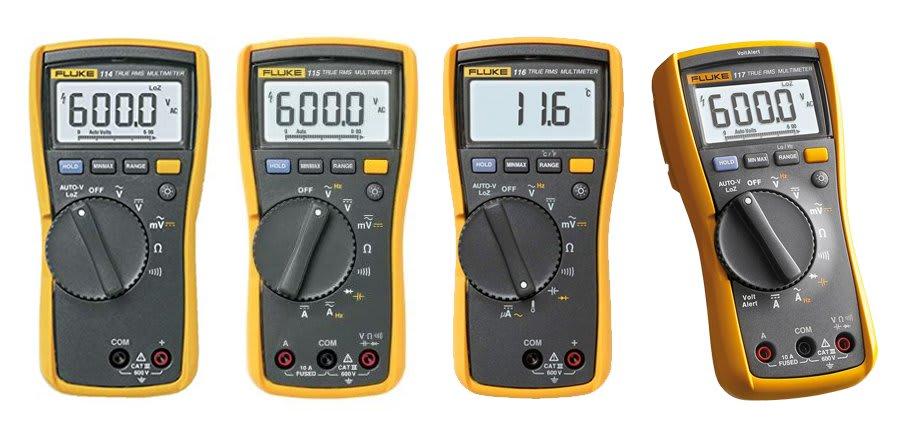 Comparison of the Fluke 117 vs 116 vs 115 vs 114 multimeters