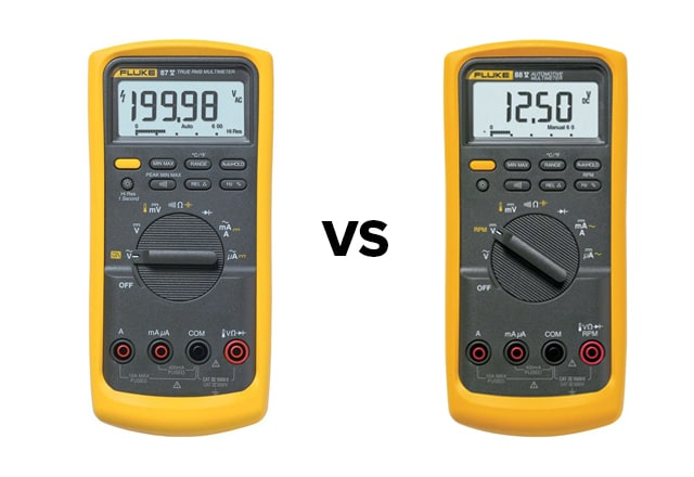 Fluke 87-5 vs Fluke 88-5 Multimeter Comparison | TEquipment