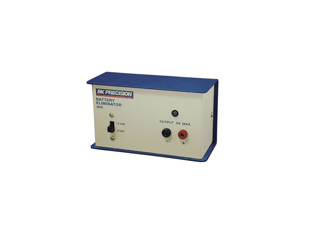 1.5 or 3VDC B/&K Precision 1501 Single-Output Dual-Voltage High-Current Battery Eliminator and DC Power Supply