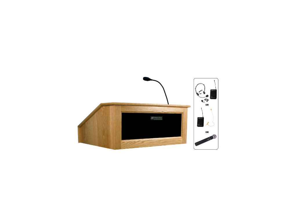 Amplivox Sw3025 Wireless Victoria Tabletop Lectern With Sound System Touchboards