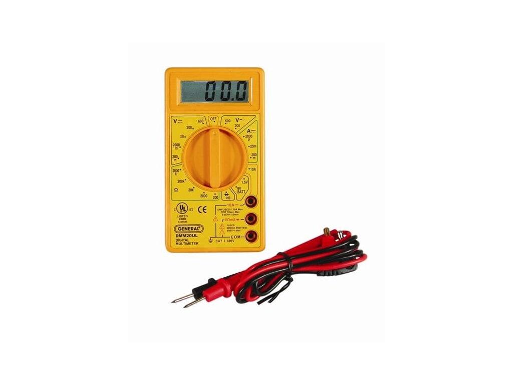 General Tools DMM20UL Digital UL Listed Multimeter GENERALDMM20UL